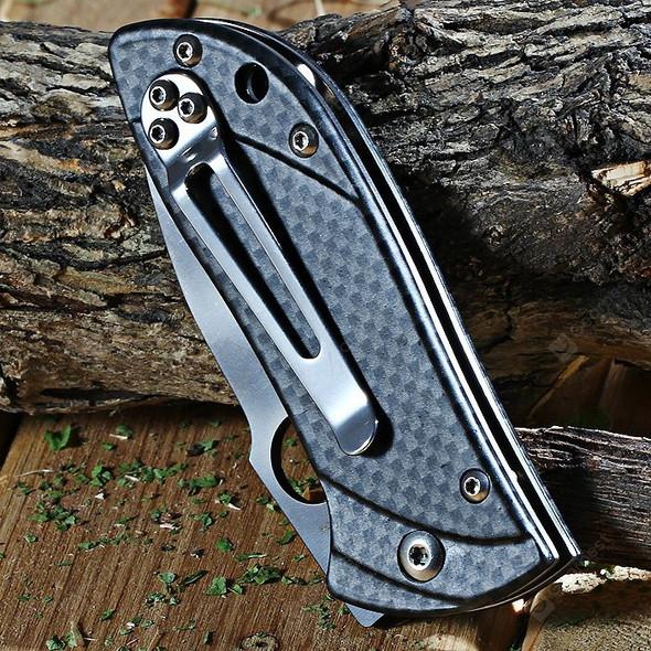 Enlan M020FH Aluminum Handle EDC Folding Knife Liner Lock Drop point Fine Edge Pocket Knives