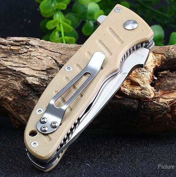 Enlan Folding knives EL01KH G10 Handle 8Cr13 57HRC Tactical Knife EDC Survival Camping Hunting Pocket Multi Hand Tools
