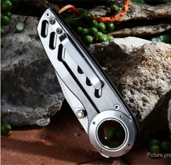 Enlan EL-07 Stainless Steel Folding Knife 8cr13mov Blade With Liner Lock with Knife Sheath