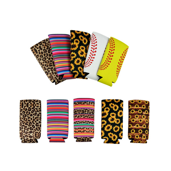 Neoprene Slim Beer Can Case Cooler Tall Stubby Holder Coke Cup Cover Foldable Stubby Beer Bottle Bags Can Holders