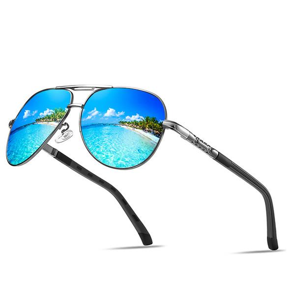 Men's HD Polarized Driving Sunglasses for Men Unbreakable Metal Frame UV400 Sun Glasses