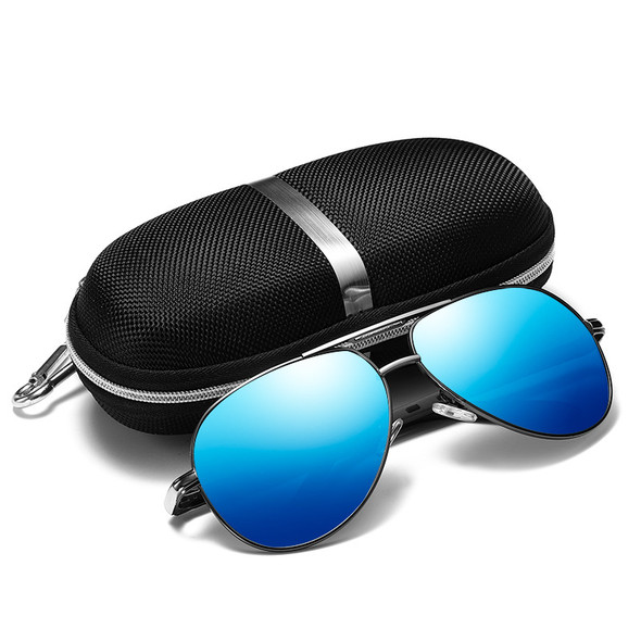 Men's HD Polarized Driving Sunglasses for Men Unbreakable Metal Frame UV400 Sun Glasses