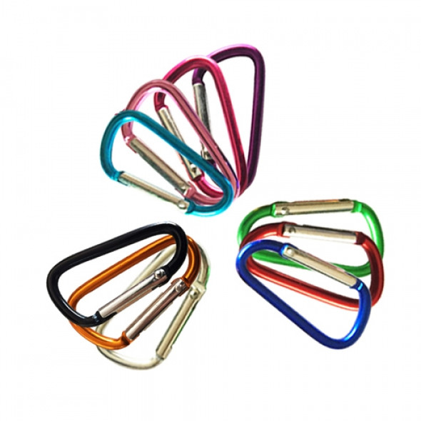 Carabiner Keychain D Ring Home Keyring Hiking Small Snap Clip On Climbing Hook