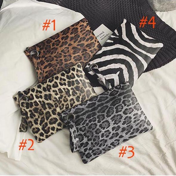 Women's PU Leopard Print Evening Clutches Hand Bags Fashion Clutch Bag Ladies Handbags