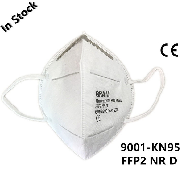N95 Mask KN95 Dustproof Anti-fog Breathable Face Masks N95 Mask 95% Filtration Features as KF94 FFP2
