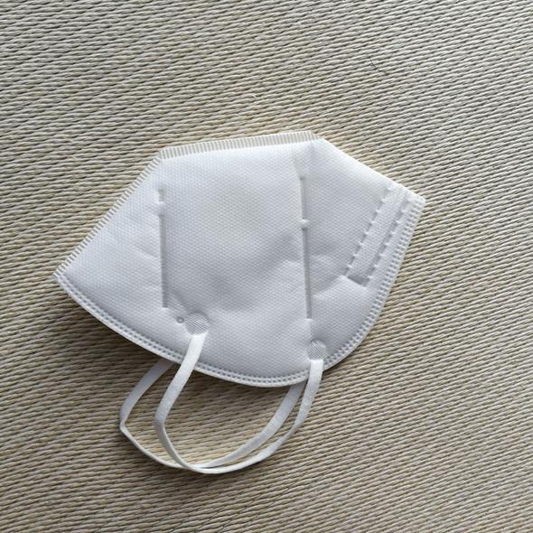 Reusable KN95 Respirator Mask Valved N95 Dustproof Anti-fog Breathable Face Masks 95% Filtration Masks with Filter - White