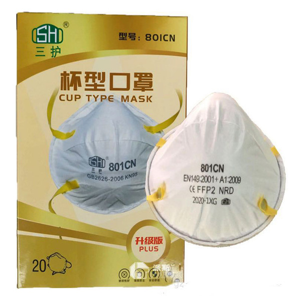 Cup Type Mask KN95 N95 FPP2 4 layers Filter Anti-Dust Protective Masks