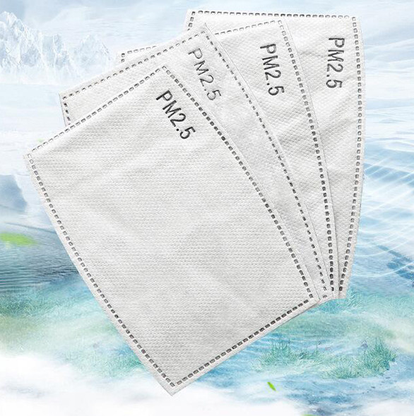 5 Layer Protective PM2.5 Disposable Mask Pad Face Masks Replacement Pad Mask Inner Pad Gasket Replacement Filter Pads Respirator Mask Filter