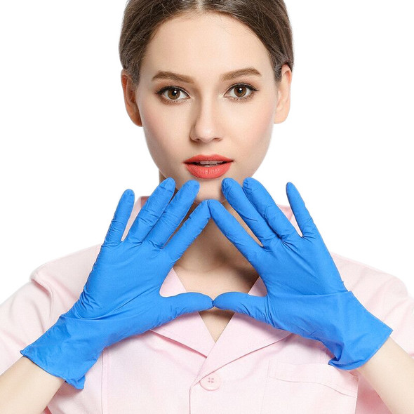Disposable Nitrile Latex Gloves Anti-skid Anti-acid Gloves A grade without Powder