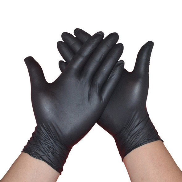 Black Disposable Gloves Latex Dishwashing Kitchen Medical Work Rubber Garden Gloves Universal For Left and Right Hand