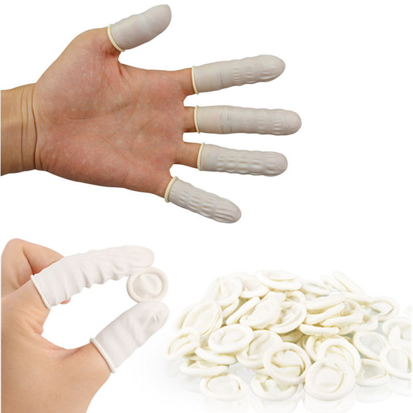 Natural Rubber Gloves Finger Cots Latex Fingertip Protective Disposable