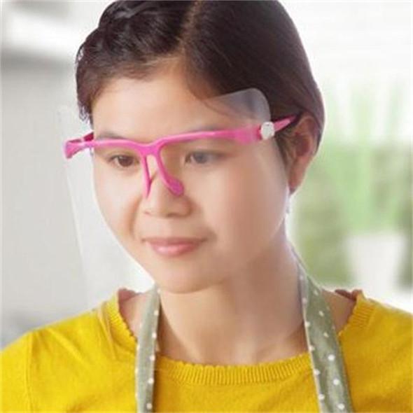 Household Protection Masks Transparent Oil Splash Prevention Face Shield Kitchen Cook for Men Women Convenient to Use
