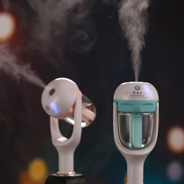 Car Plug Air Humidifier Purifier Vehicular Aromatherapy Ultrasonic Humidifiers Purifiers Air Cleaning Cooling 180 Rotation 50ML