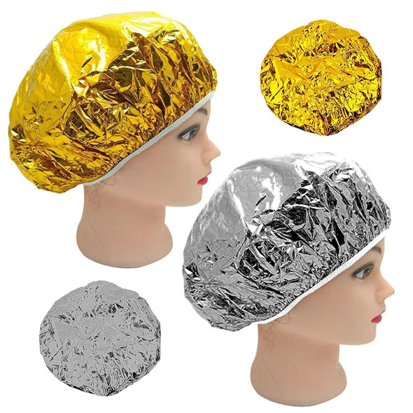 Aluminum Foil Waterproof Ultra-thin Bath Hoods Nourishing Dry Disposable Shower Cap Baking Oil Hair Cap
