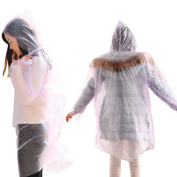 Disposable Raincoat Adult Emergency Waterproof Hood Poncho Travel Camping Must Rain Coat Unisex