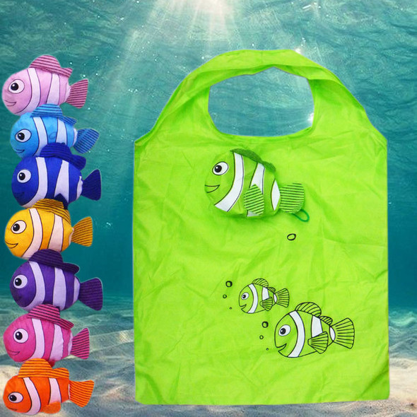 Nylon Cartoon Hand Bags Mic New Tropical Fish Foldable Eco Reusable Shopping Bags