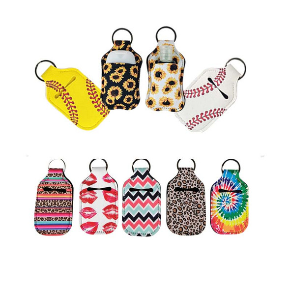 hand sanitizer bottle keychain holders