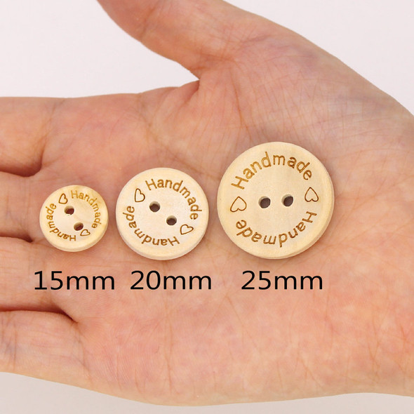 Natural Color Wooden Buttons Handmade Letter Love Scrapbooking For Wedding Decor Sewing Accessories