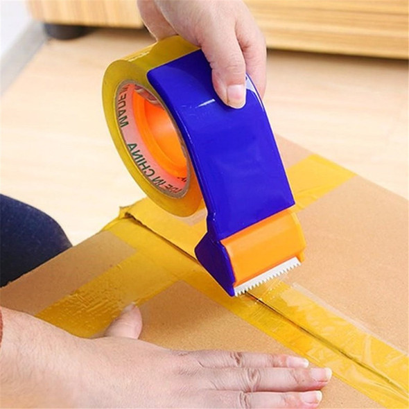 "Taper Cutter 2"" Width Transparent Adhesive Tape Dispenser School Desktop Blue Washi Tape Holder Packing Dispenser Shop Supplies"