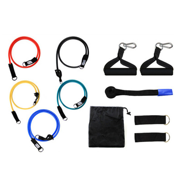 Yoga Fitness Pull Rope 11pcs per Set Pull Rope Fitness Exercises Resistance Bands Latex Tubes Pedal Excerciser Body Training Workout Bands