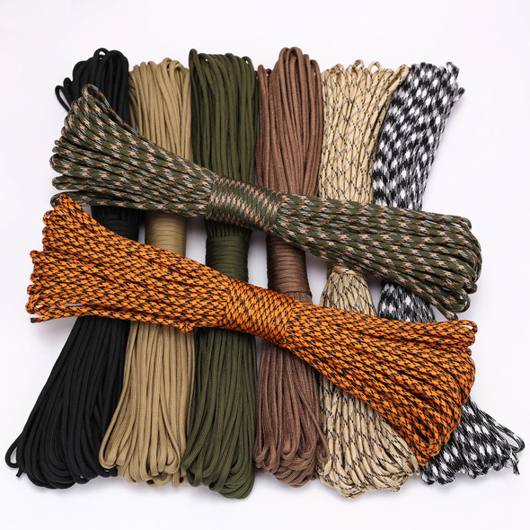Dia.4mm 9 stand Cores Paracord for Survival Parachute Cord Lanyard Camping Climbing Camping Rope Hiking Clothesline 31meters per Roll