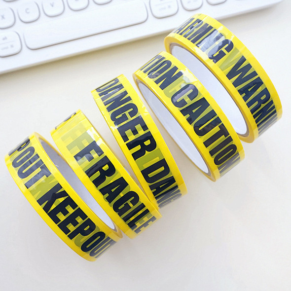24mm*25m Warning Tape Danger Caution Fragile Barrier Remind DIY Sticker Work Safety Adhesive Tapes For Mall Store School