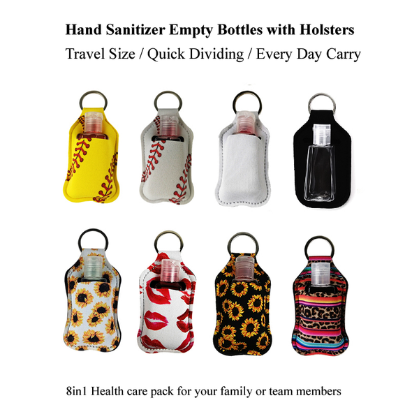 8 pack edc hand sanitizer holders