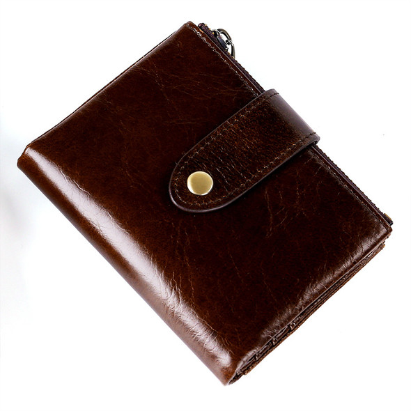 Horse Oil Leather Multi-function Card Coin Clutch Purse Bifold Wallet Hand Take Money Purse
