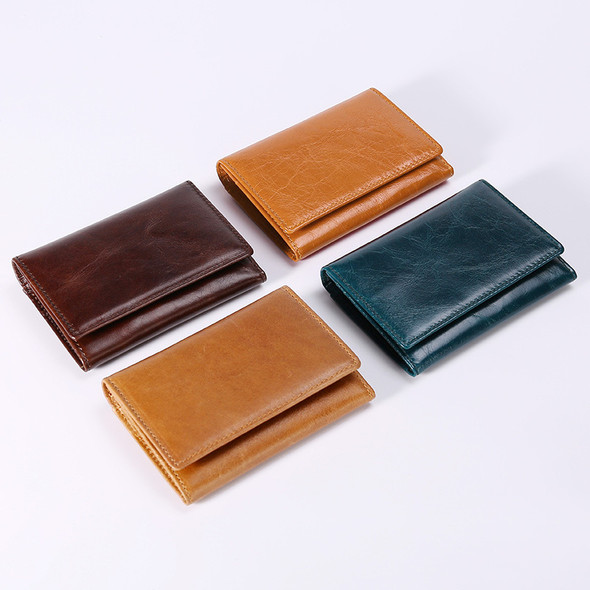 Men Women Korean Version Cowhide Leather RIFD Anti-theft Credit Card Package Card Set Multi-card Business Card Holder