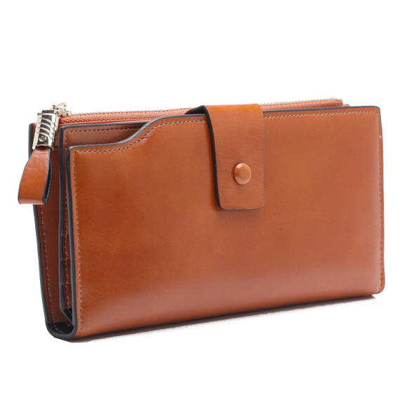 Korean Style Wallet Leather Pocket Purse Business Card Credit Card Case Coin Purse Leather Womens Fashion Walle