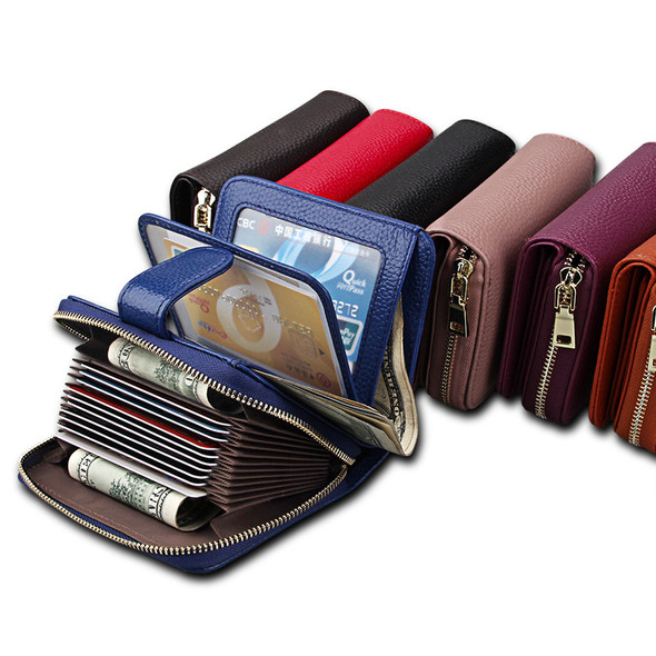 Ladies Card bag Card Sleeve Top Layer Leather Wallet Wear Resistance Multifunctional Wallet Driving ID Wallet