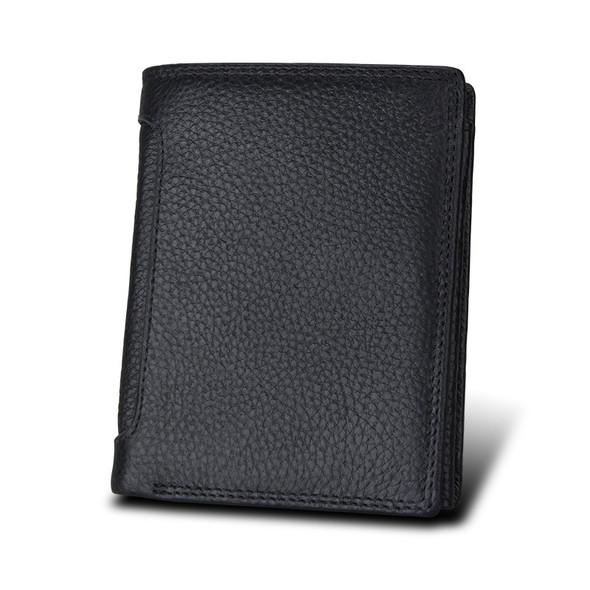 Men's Anti-theft Brush RFID Genuine leather man's Wallet Multifunctional Men Vertical Wallet