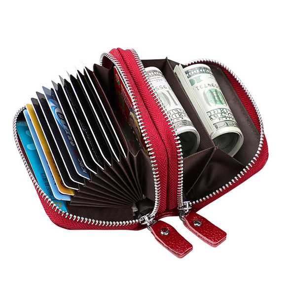 Change Card Bag Antimagnetic RFID Leather Card Bag Korean Style Card Bag Bulk Wallet