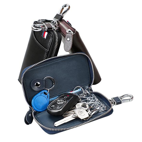 Key Case Card Sleeve Niu Pickup Bag Large Capacity Leather Multifunctional Key Buckle Bag