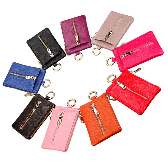 Lady Leather Bag Access Key Waistband Key Bag Car keypack Hold Change Purse