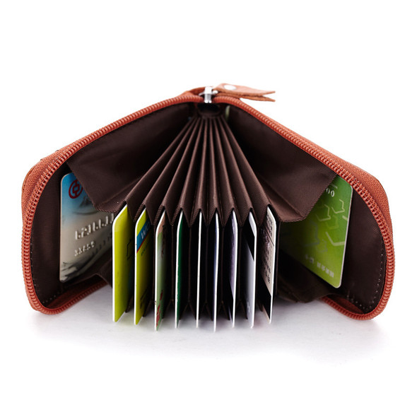 Real pickup bag Card bit Lady Wallet Card bag Top layer leather Men's Bags