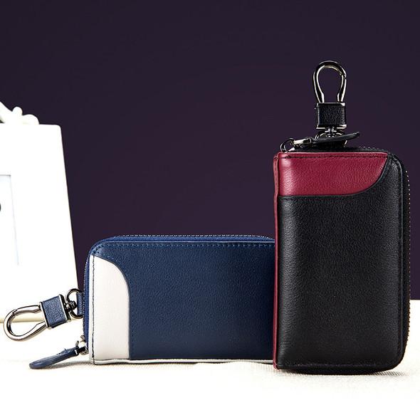 Car keypack The multifunctional bag Top layer leather Universal bag for men and women Zipper Waist padlock key pack