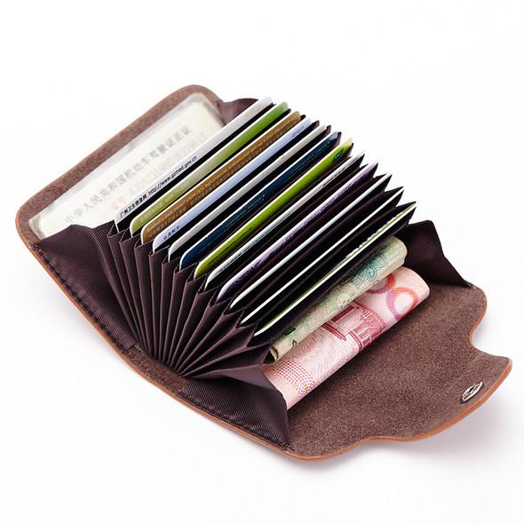 Small card bag Multiple card pocket Credit card holder Leather handbag Long wallet for ladies Clutch bag