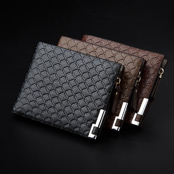 Leisure Wallet Fashion embossing Hardware Zipper Wallet Organ clip Credit card sets Small wallet Card bag