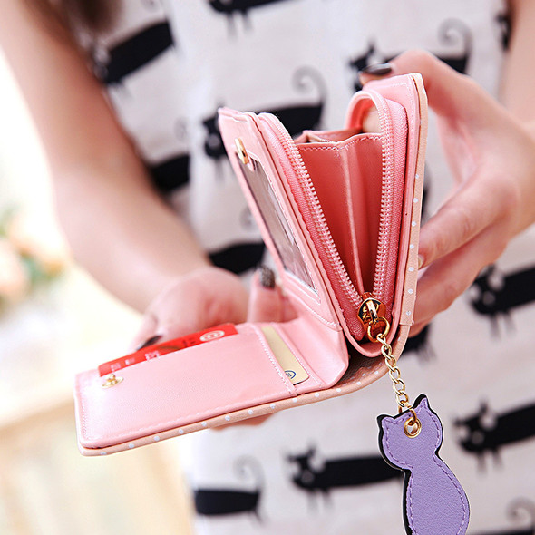 Cartoon pocket purse Point Printed Lady's Wallet Retro duan'k change Wallet Credit card sets Portable handbag