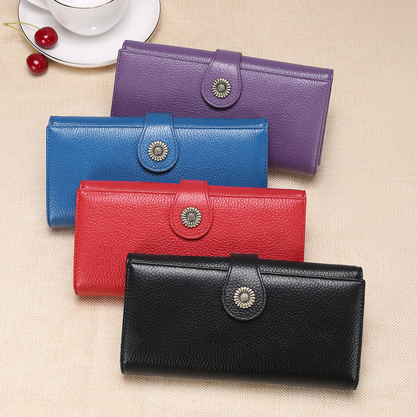 European and American retro style women's wallet leather first layer of cowhide clutch bag long wallet