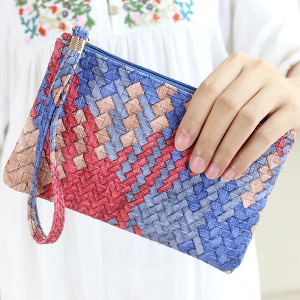 Women' Japan and Korean Style PVC Long Multi-function Waller Large Capacity Handbag Zipper Coin Mobile Phone Purse Bag