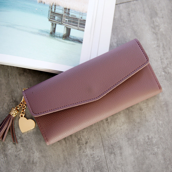 Ladies Long PU Genuine Leather Simple Multi-Function Cover Wallet Credit Card Cash Coin Hand Holding Women's Purse Bag For Gift
