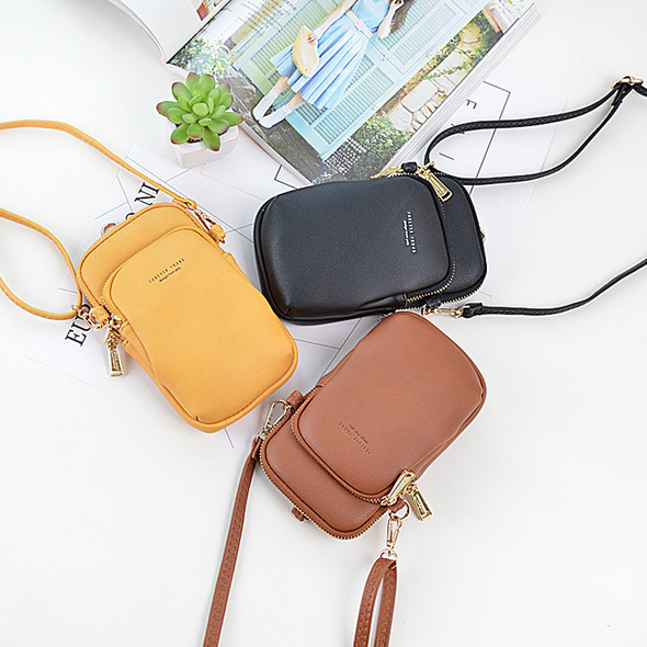 Women's Wallet PU Leather Clutch Bag Large Capacity One Shoulder Purse Mobile Phone Coin Purse Bag for Gift Party