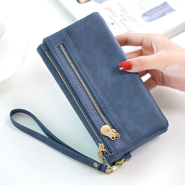 Women's Wallet Long PU Leather Multi-function Clutch Bag Large Capacity One Shoulder Purse Mobile Phone Coin Purse Bag
