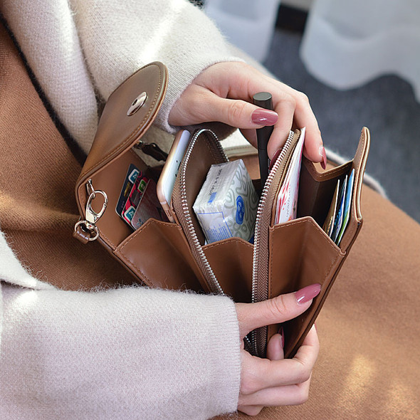 Women's Wallet PU Leather Clutch Long Purse Mobile Phone Coin Multi-function Large Capacity Purse Bag