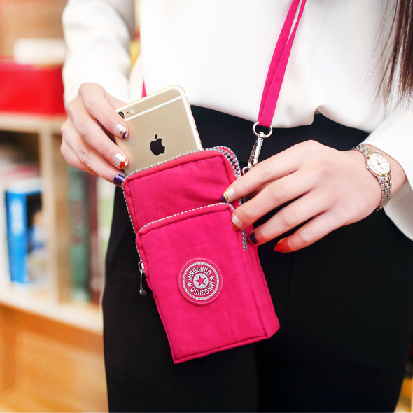Ladies Mini Wallet Nylon Cloth Clutch Bag Large Capacity Women's Wallet One Shoulder Purse Coin Mobile Phone Purse Bag for Gift