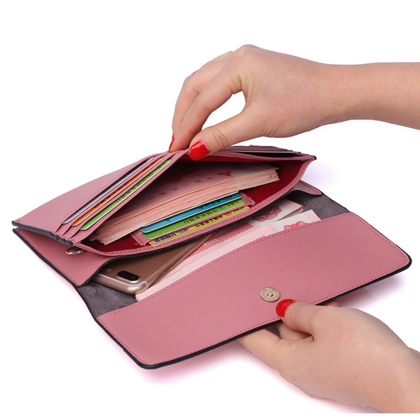 Women's Wallet Multi-function Korean Style PU Leather Handbag Coin/Card/Mobile Phone Holder Hand Holding Ladies Purse Bag