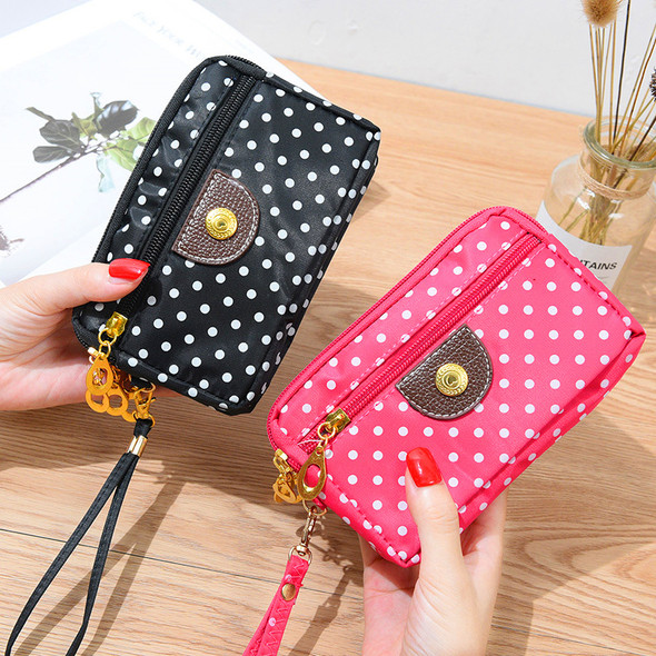 Multi-color Korean Style Women's Wallet Credit Card/Mobile Phone Holder Canvas Handbag Large Capacity Ladies Clutch Coin Purse