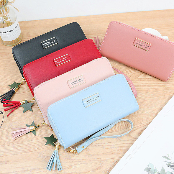 Multi-color Korean Style Women's Purse Card Mobile Phone Holder Leather Handbag Large Capacity Ladies Clutch Wallet